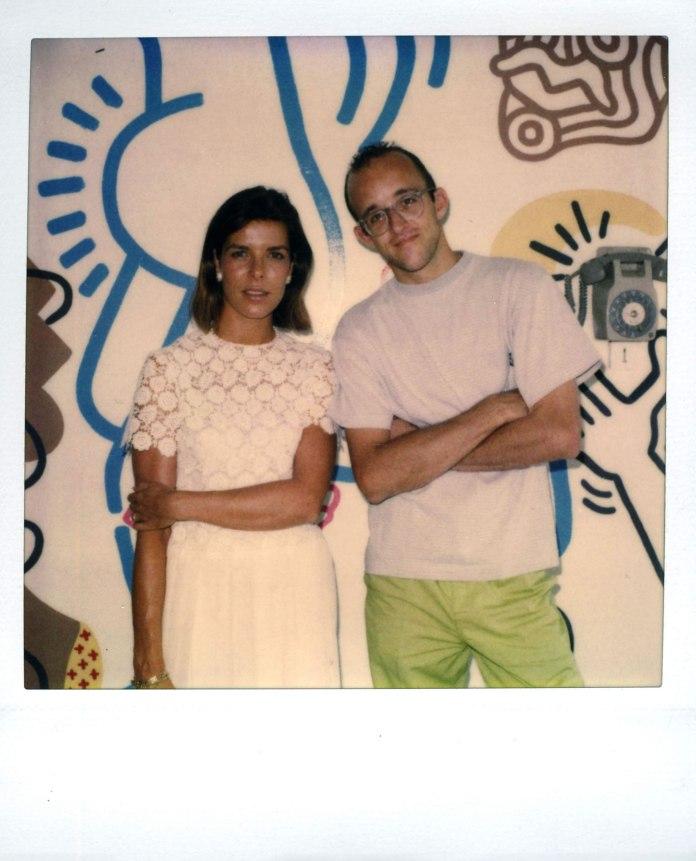 Keith Haring & Caroline de Monaco en 1989 à la maternité de l'Hôpital Princesse Grâce