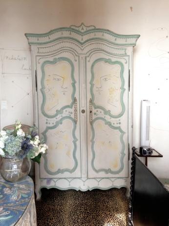 Portes de l'armoire dans la chambre dite de l'initiation des Bacchantes