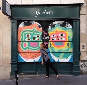 Kashink Chez Gustave, volet roulant, 21 Rue Henry Monnier Paris 9