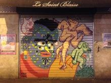 Rideau de fer du bar Le Saint Blaise